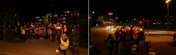 Fakkeltog i Ålesund.