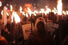 Det store engasjementet mot pelsdyroppdrett lyste opp Oslos gater den 14. november. Foto: Anna Jakobsen.