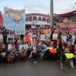 Engasjerte aktivister og kjendiser mot dyr på sirkus