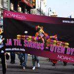 Opphenging av sirkusplakater i Oslo