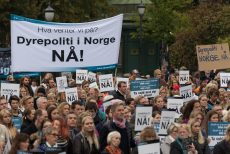 NOAHs markering for dyrepoliti i Oslo. Foto: Erling Pande Braathen