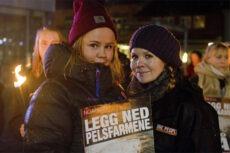 Fra fakkeltoget i Lillehammer. Foto: Kristina Chap