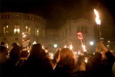 Fra fakkeltoget i Oslo. Foto: Vilde Iren Borse