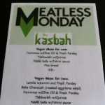 Meatless Monday - nå også på The Kasbah!