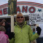 Markering mot Cirkus Merano i Vinstra