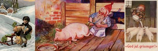 Kjøtt, slakt, jul, gris, nisse