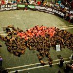 Protest mot okseløpet in Pamplona