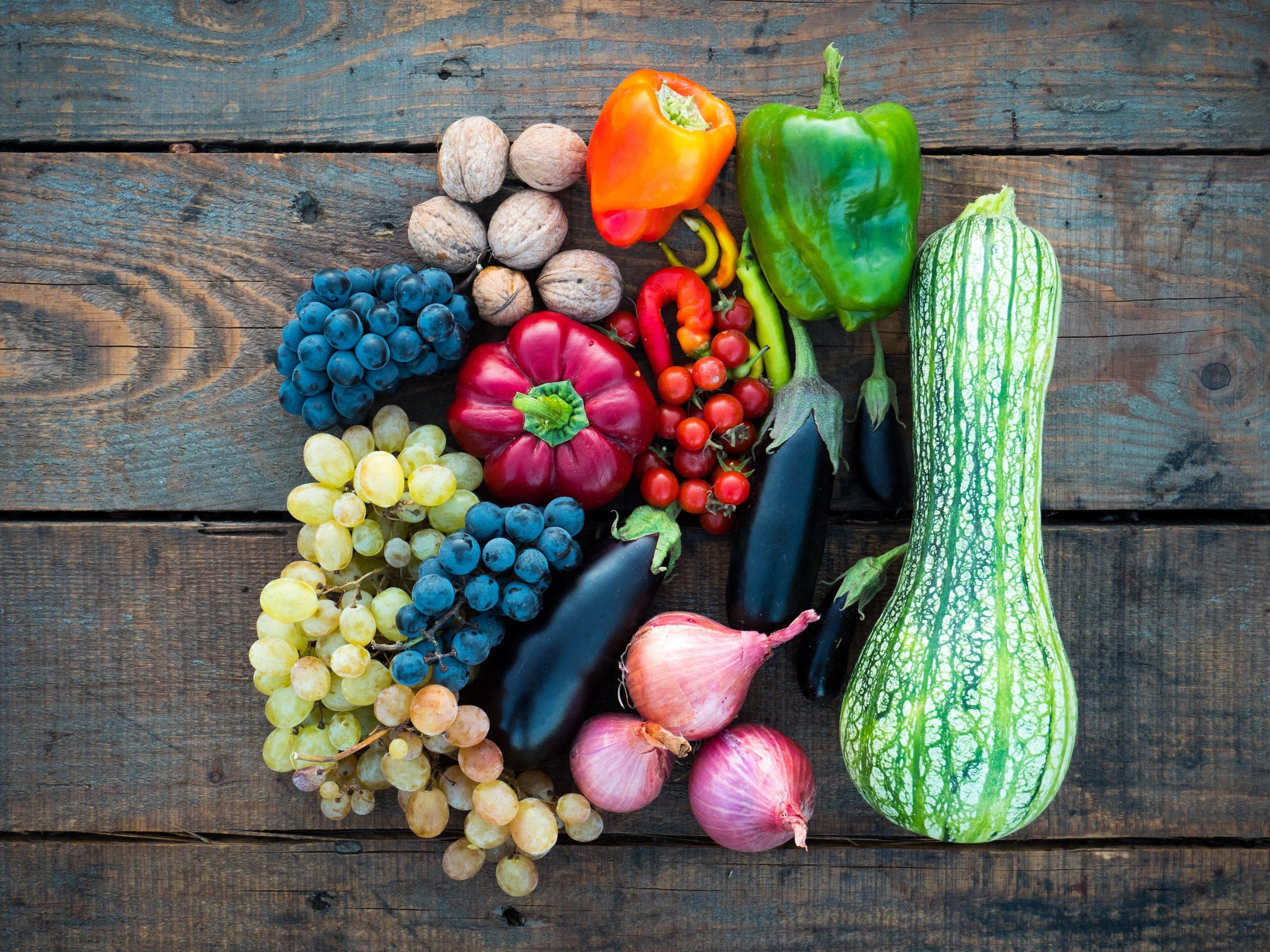 masse forskjellige grønnsaker
