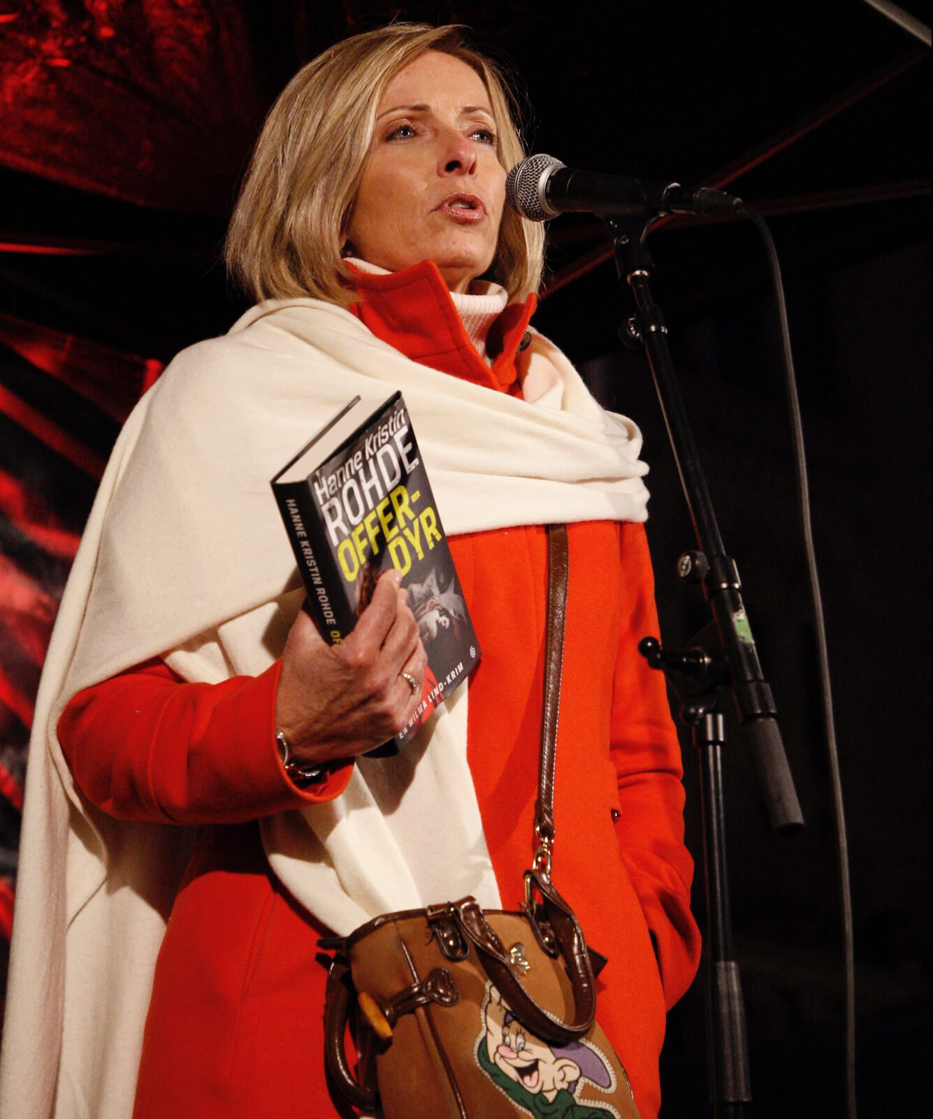 Hanne Kristin Rohde holdt appell under fakkeltoget.