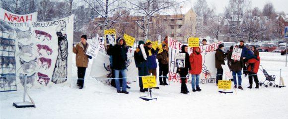 demonstrasjon mot pelsdyr utstilling