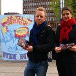 Markering mot Cirkus Merano i Kristiansand