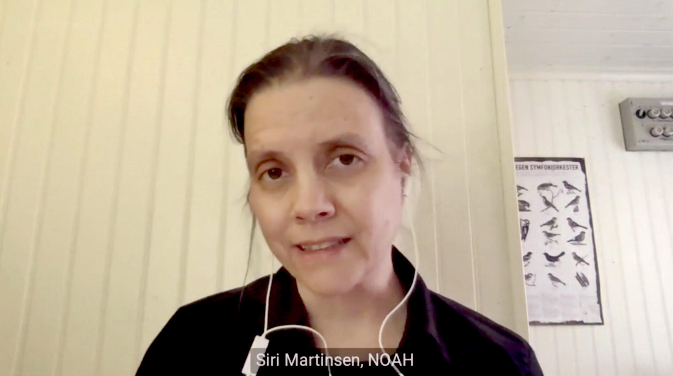 Leder i NOAH, Siri Martinsen, avgir partsforklaring i ulverettssaken.